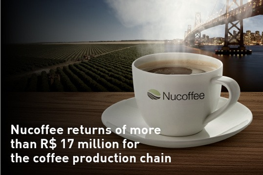 Nucoffee returns of more than 17 million for the coffee production chain